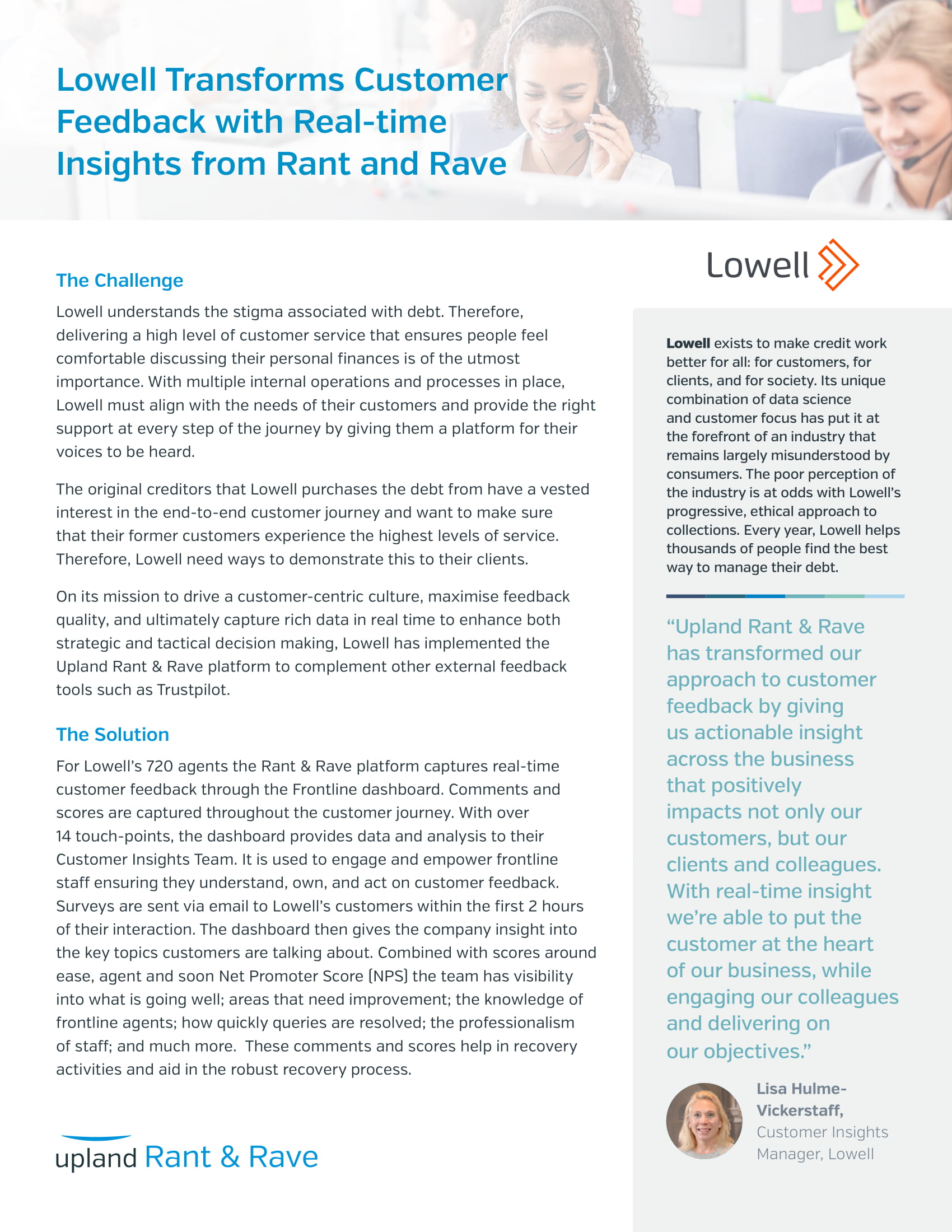 Rant and Rave Lowell Case Study-1