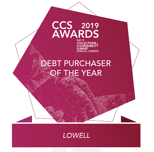 CCS Winner 2019 Debt Purchaser of the year